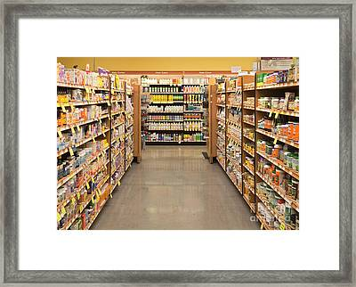 Vitamin And Supplement Aisle Framed Print