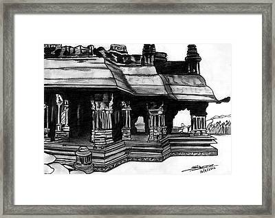 Vittala Temple Hampi Framed Print by Shashi Kumar