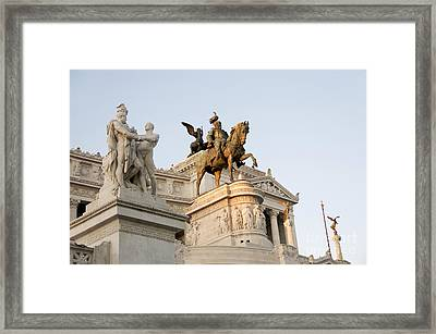 Vittoriano. Monument To Victor Emmanuel II. Rome Framed Print by Bernard Jaubert