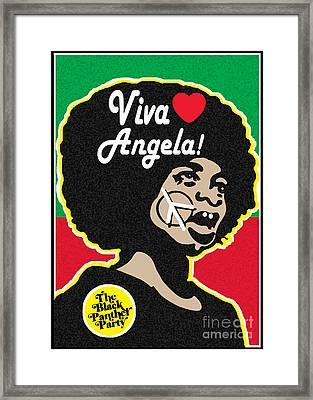 Viva Angela Davis Framed Print