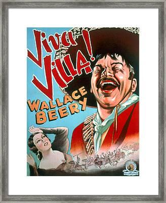 Viva Villa, Fay Wray, Wallace Beery Framed Print by Everett