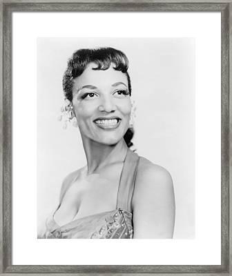 Vivian Alfretta Dandridge 1921-1991 Framed Print by Everett