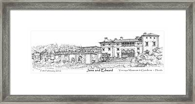 Vizcaya For Jane And Edward Framed Print by Building  Art