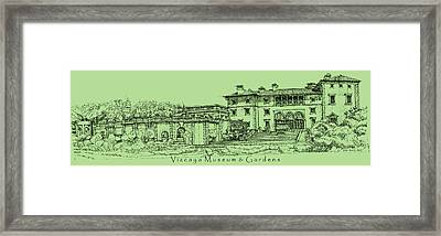 Vizcaya In Olive Green  Framed Print by Building  Art