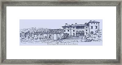 Vizcaya Museum And Gardens In Blue  Framed Print by Building  Art