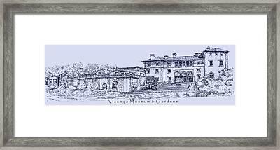 Vizcaya Museum In Blue Framed Print