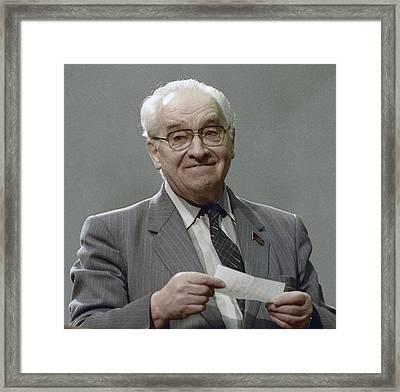 Vladimir Kotelnikov, Soviet Engineer Framed Print