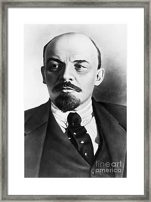 Vladimir Lenin, Russian Marxist Framed Print by Photo Researchers