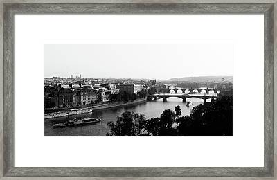 Vltava River At Prag Framed Print by Jörg Wendland