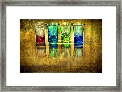 Vodka Glasses Framed Print