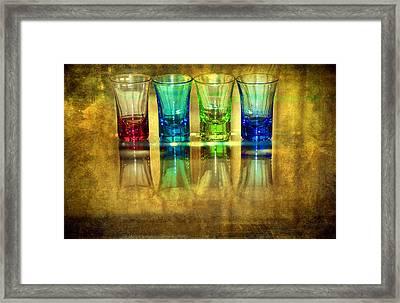 Vodka Glasses Framed Print by Svetlana Sewell
