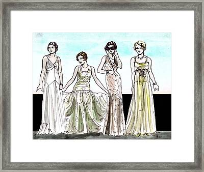 Vogue Ladies Framed Print by Mel Thompson