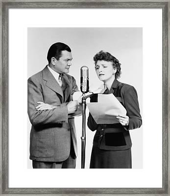 Voice Actors Marjorie Hannan And Hugh Framed Print by Everett
