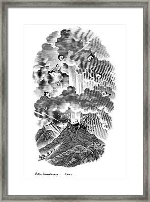Volcanic Eruption, Artwork Framed Print by Bill Sanderson