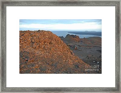Volcanic Landscape At Sunset Framed Print by Sami Sarkis