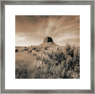 Volcanic Peak, Central Oregon, Usa Framed Print by Mel Curtis