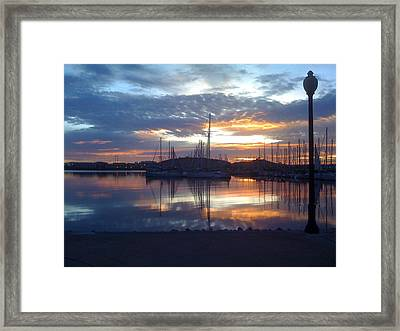 Volcanic Reflections 2 Framed Print