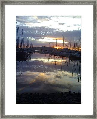 Volcanic Reflections10 Framed Print