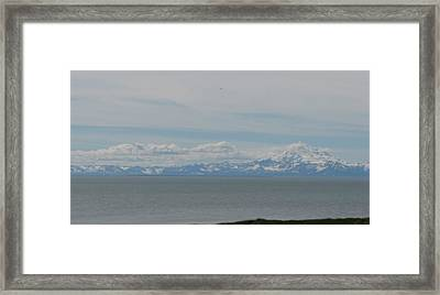 Volcano In Alaska Framed Print