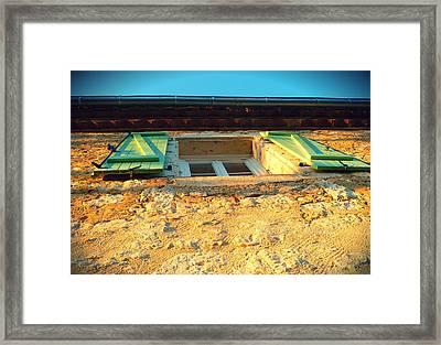 Volets Verts Framed Print by Sandrine Pelissier