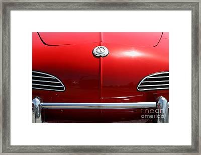 Volkswagon Karmann Ghia . 7d15469 Framed Print by Wingsdomain Art and Photography