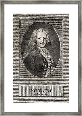 Voltaire, French Author Framed Print by Middle Temple Library