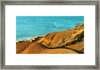 Voluptuous Shoreline Framed Print by Jocelyn Kahawai