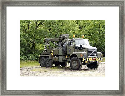Volvo N10 Truck Crane Of The Belgian Framed Print by Luc De Jaeger