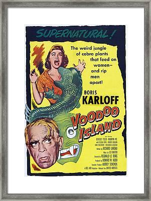 Voodoo Island, Boris Karloff, Beverly Framed Print by Everett