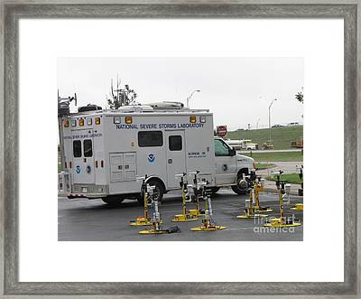 Vortex2 Field Command Vehicle Framed Print by Science Source