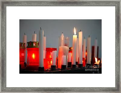 Votive Candles Framed Print by Gaspar Avila