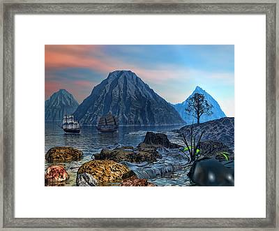 Voyage Out Framed Print by Lourry Legarde
