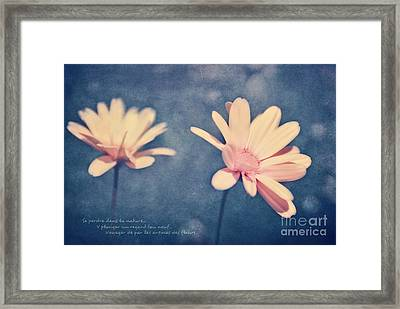 Voyager De Par Les Aromes Des Fleurs Framed Print by Aimelle