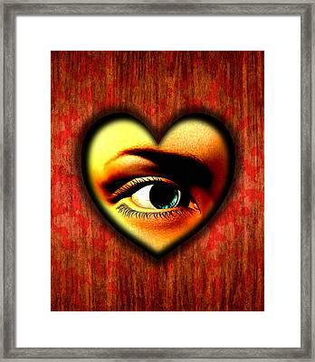 Voyeurism, Conceptual Artwork Framed Print by Stephen Wood