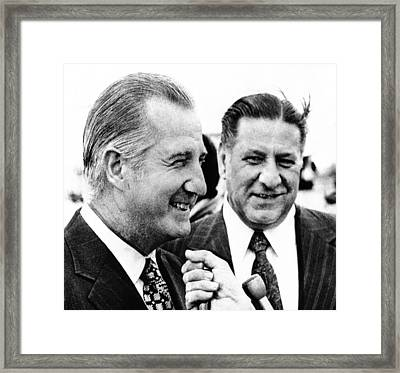 Vp Spiro Agnew With Mayor Frank Rizzo Framed Print