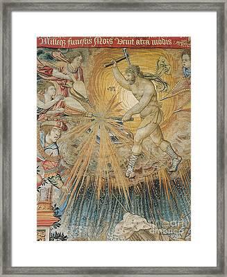 Vulcan, God Of Fire Framed Print