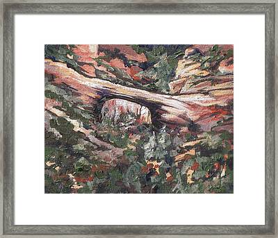 Vultee Arch Framed Print by Sandy Tracey