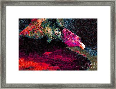 Vulture In Van Gogh.s Dream . V2 . 40d8879 Framed Print by Wingsdomain Art and Photography