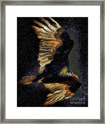 Vulture In Van Gogh.s Dream Returns . 40d8879 Framed Print by Wingsdomain Art and Photography
