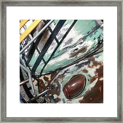 Vw Abstract Framed Print by Gwyn Newcombe