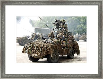 Vw Iltis Jeeps Used By Scout Or Recce Framed Print by Luc De Jaeger