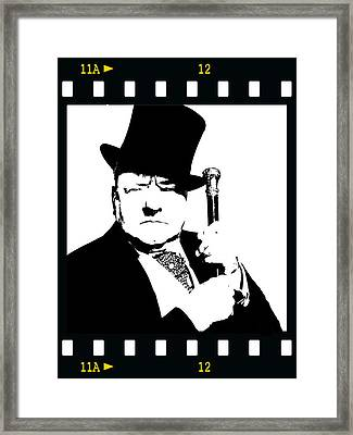 Framed Print featuring the painting W. C. Fields by Jann Paxton