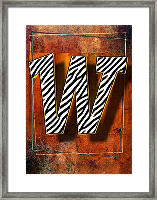 W Framed Print by Mauro Celotti