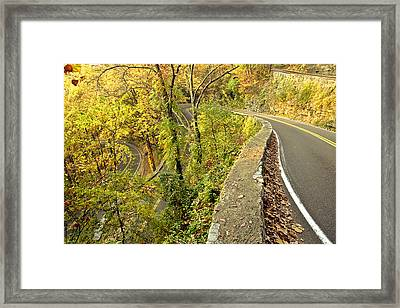 W Road In Autumn Framed Print by Tom and Pat Cory