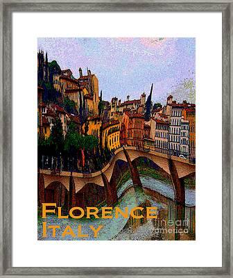 Wacky Florence Italy Framed Print