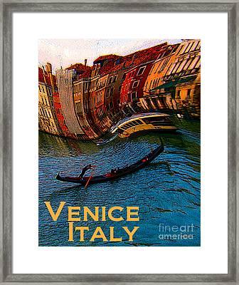 Wacky Venice Italy Framed Print