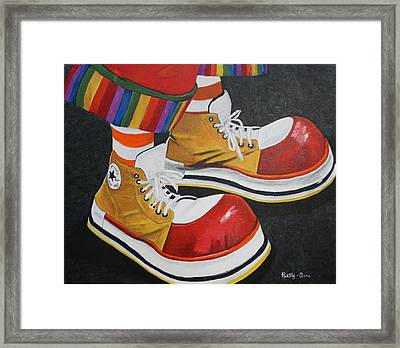 Waffle's Shoes Framed Print