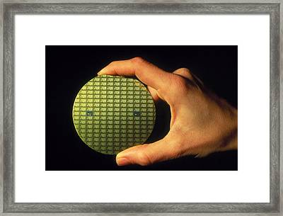 Wafter Of Silicon Chips Framed Print by David Parker