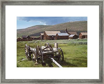 Wagon And Shovel Framed Print