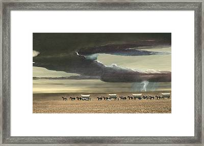 Wagon Train Framed Print by Walter Colvin
